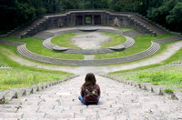 girl on steps in 3rd Reich Amphitheater 1